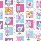 kwiaty deseniują retro bezszwowego Zdjęcie Royalty Free