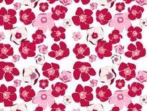 kwiaty deseniują bezszwowego Obraz Royalty Free