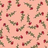 kwiaty deseniuj? bezszwowego Druk dla tkaniny i inny ukazuje si? Kwiaty rysuj?cy r?k? Abstrakcjonistyczny bezszwowy wzór na mench ilustracji