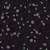 kwiaty deseniują purpury Obraz Royalty Free