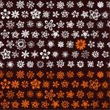 kwiaty deseniują szkicowego Obraz Royalty Free