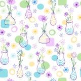 kwiaty deseniują wazy Zdjęcia Royalty Free