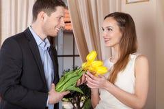 Kwiaty dla uroczej kobiety Zdjęcie Royalty Free
