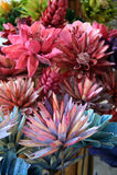 kwiaty, drewniany Obrazy Stock
