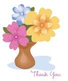 kwiaty dziękować ty ilustracja wektor