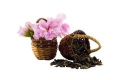 kwiaty herbatę Zdjęcia Royalty Free