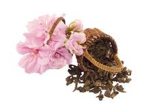 kwiaty herbatę Obraz Royalty Free
