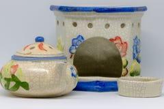 Kwiaty i ceramiczny fotografia stock