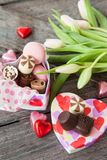 Kwiaty I czekolady Zdjęcie Royalty Free