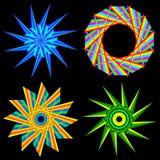 Kwiaty i geometryczny kształt gwiazda royalty ilustracja