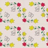 Kwiaty i motyle Obrazy Stock