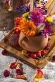 Kwiaty i owoc jesień Fotografia Royalty Free