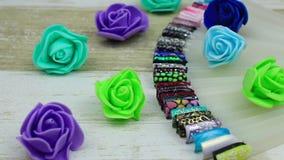 Kwiaty i profesjonalistów gwoździ szablony zdjęcie wideo