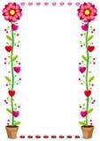 kwiaty i serca Zdjęcie Royalty Free