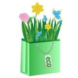 Kwiaty i trawa są w pakunku Zdjęcia Royalty Free
