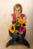 kwiaty kobiety Obrazy Royalty Free