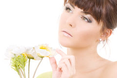 kwiaty kobiety Fotografia Stock