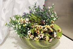 kwiaty kuchnię Domowy wystrój zdjęcia stock