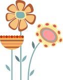 Kwiaty, kwiatu wektor Zdjęcia Stock