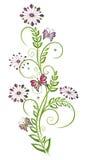 Kwiaty, kwiecisty element Zdjęcia Stock
