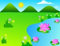 kwiaty lotosu ilustracji