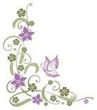 Kwiaty, motyl Obrazy Stock