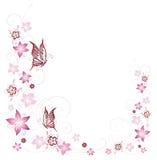 Kwiaty, motyl Obraz Royalty Free