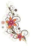 Kwiaty, motyl, abstrakt Fotografia Stock