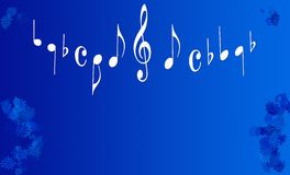 kwiaty muzykalne uwagi Obrazy Stock