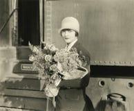 Kwiaty na przyjazdzie Zdjęcia Stock