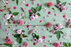 Kwiaty na stole Obrazy Royalty Free