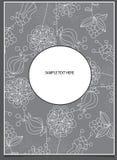 Kwiaty na szarym tle z tekstem Zdjęcia Stock
