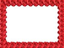 kwiaty obramiają czerwień Zdjęcie Royalty Free