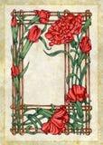 kwiaty obramiają mum paskującego Zdjęcie Royalty Free