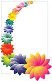 kwiaty obramiają wektora Zdjęcia Royalty Free