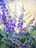 Kwiaty Oliwią Cyfrowego obraz royalty ilustracja