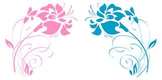 kwiaty ornamentują dwa Zdjęcie Royalty Free