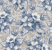 Kwiaty. Piękny tło z kwiatu orname ilustracja wektor
