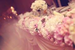 Kwiaty poślubia stołowego ornament Obraz Royalty Free