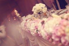Kwiaty poślubia stołowego ornament Zdjęcie Royalty Free