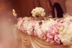 Kwiaty poślubia stołowego ornament Obraz Stock