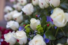 Kwiaty poślubia dekoracje Zdjęcia Royalty Free