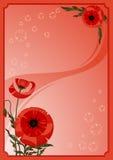kwiaty, poppy ramowy ilustracji