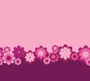 kwiaty różowią bezszwowego Zdjęcia Royalty Free