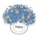 Kwiaty Rocznik również zwrócić corel ilustracji wektora karciany elegancki botanika motyla opadowy kwiecisty kwiatów serca wzoru  Zdjęcia Royalty Free