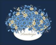 Kwiaty Rocznik również zwrócić corel ilustracji wektora karciany elegancki botanika motyla opadowy kwiecisty kwiatów serca wzoru  Zdjęcia Stock