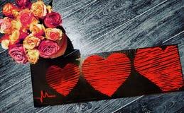 kwiaty serca Zdjęcia Stock