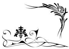 kwiaty stylizowali royalty ilustracja