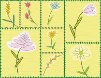 kwiaty stylizujący Zdjęcie Royalty Free