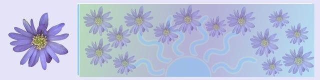 kwiaty sztandarów nagłówka sweet różowego ilustracji